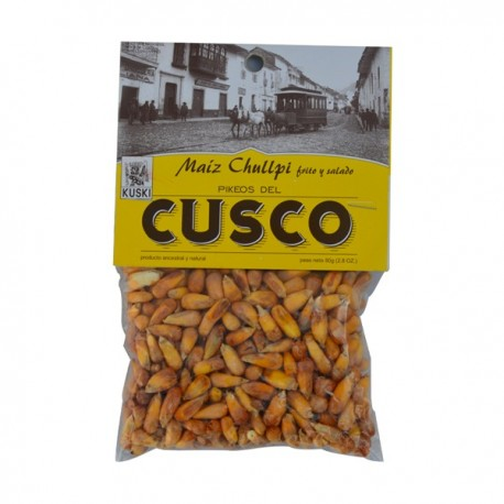 Maíz Chullpi frito y salado Kuski Pérou