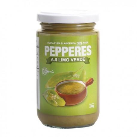 Piment Limo vert frais en Purée (Ají Limo Verde) Pepperes / Cuisine péruvienne / Pérou
