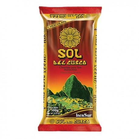 Pâte pure de Cacao Sol del Cusco sans Sucre IncaSur 300g